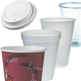 Plastic, foam and paper cups