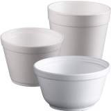 Foam food bowls and containers