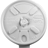 Dart 10FTL White Lift n' Lock Lid for 10J10 Foam Cups