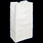 16 lb White Paper Bags