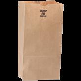 20 lb Brown Paper Bags