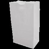 25 lb White Paper Bags