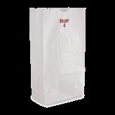 4 lb White Paper Bags