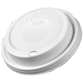 Dart 8EL White Cappuccino Tapas Lid for 8J8 Foam Cups