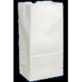 8 lb White Paper Bags