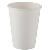 12 oz White Hot Paper Cups