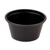 2 oz Black Souffle Cups