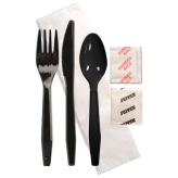 Heavy Weight 6 Piece Cutlery Kits (Black)