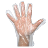 """Clear Poly Gloves Large"""