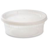 8 oz Plastic Soup Container (Lids Included)
