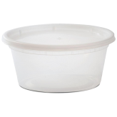 12 oz Plastic Soup Container (Lids Included)