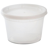 16 oz Plastic Soup Container (Lids Included)