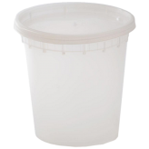 24 oz Plastic Soup Container (Lids Included)