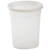 32 oz Plastic Soup Container (Lids Included)