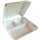9x9 Foam 3 Compartment Hinged Lid
