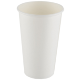 16 oz White Hot Paper Cups