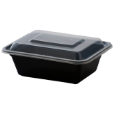 12 oz Black Microwavable rectangular Container