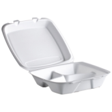 8x7 Foam 3 Compartment Hinged Lid