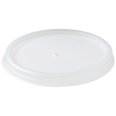Dart 4JL Translucent Vented Plastic Lid for 4J4 Foam Cups
