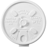 Dart 8FTL White Lift n' Lock Lid for 8J8 Foam Cups