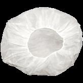 21 inch  White Bouffant Cap