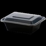 12 oz Black Microwavable rectangular Container