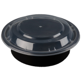 16oz Black Microwavable Round Container