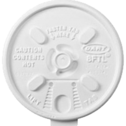 Dart 8FTL White Lift n' Lock Lid for 8J8 Foam Cups